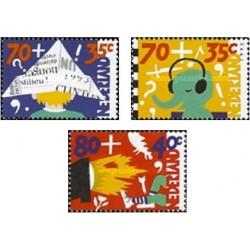 3 عدد تمبر مراقبت از کودکان - هلند 1993