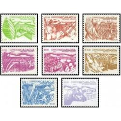 8 عدد تمبر اصلاحات ارضی - نیکاراگوئه 1983