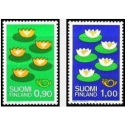 2 عدد تمبر نسخه شمالی - Norden - فنلاند 1977