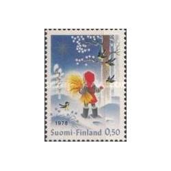1 عدد تمبر کریستمس - فنلاند 1978