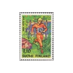 1 عدد تمبر مسابقات جهانی جهت یابی - فنلاند 1979
