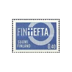 1 عدد تمبر پیوستن فنلاند به انجمن تجارت آزاد اروپا - EFTA - فنلاند 1967