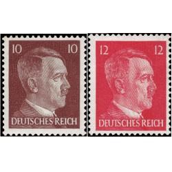 2 عدد تمبر سری پستی هیتلر - رایش آلمان 1942