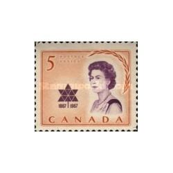 1 عدد تمبر دیدار سلطنتی - کانادا 1967