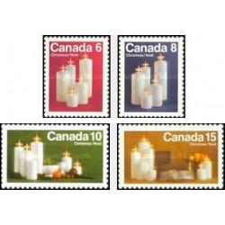 4 عدد تمبر کریستمس - شمعها - کانادا 1972