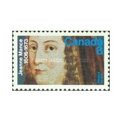 1 عدد تمبر 300مین سال مرگ جین مانس - پرستار فرانسوی - کانادا 1973