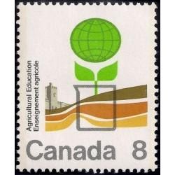 1 عدد تمبر صدمین سال تحقیقات کشاورزی - کالج کشاورزی اونتاریو - کانادا 1974