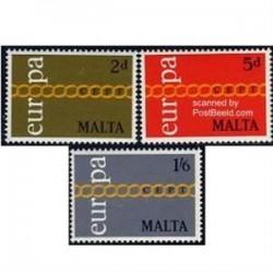 3 عدد تمبر اتحادیه اروپا - مالت 1971