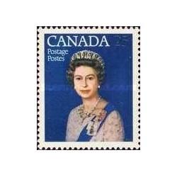 1 عدد تمبر جشن 25مین سال سلطنت - ملکه الیزلبت دوم - کانادا 1977