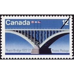 1 عدد تمبر 50مین سال افتتاح پل صلح - رود نیاگارا - کانادا 1977