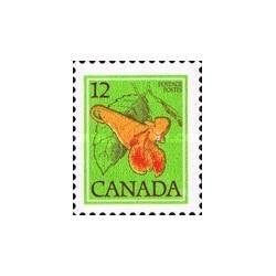 1 عدد تمبر سری پستی گلهای وحشی - گل حنا - کانادا 1978
