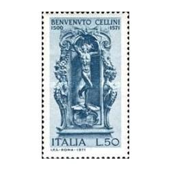 1 عدد تمبر 400lمین سال درگذشت سلینی - مجسمه ساز - ایتالیا 1971