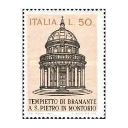 1 عدد تمبر معبد سنت پیتر در مونته ریو - ایتالیا 1971