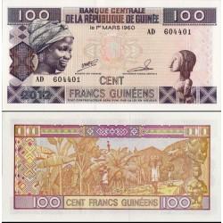 اسکناس 100 فرانک - گینه 2012