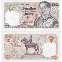 اسکناس 10 بات - تایلند 1980