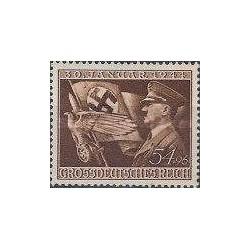 1 عدد تمبر یازدهمین سال حکومت هیتلر - رایش آلمان 1944