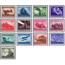 13 عدد تمبر روز یادبود قهرمانان  - رایش آلمان 1944 با شارنیه
