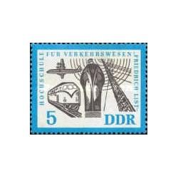 1 عدد تمبر دهمین سال مدرسه ترافیک - جمهوری دموکراتیک آلمان 1962