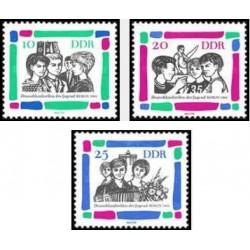 3 عدد تمبر گردهمائی جوانان در برلین - جمهوری دموکراتیک آلمان 1964