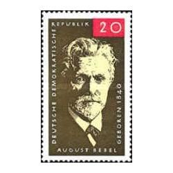 1 عدد تمبر یادبود آگوست ببل - از بنیانگذاران حزب سوسیال دموکرات - جمهوری دموکراتیک آلمان 1965