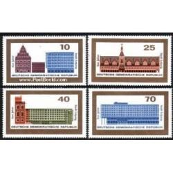 4 عدد تمبر 800 سالگی شهر لایپزیک - جمهوری دموکراتیک آلمان 1965