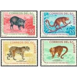 4 عدد تمبر حیوانات تنا - اکوادور 1961