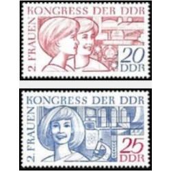 2 عدد تمبر کنگره زنان - جمهوری دموکراتیک آلمان 1969