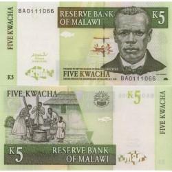 اسکناس 5 کواچا - مالاوی 2004