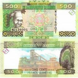 اسکناس 500 فرانک - گینه 2015