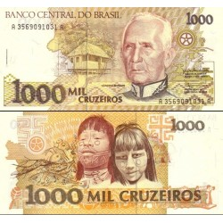 اسکناس 1000 کروزرو - برزیل 1990