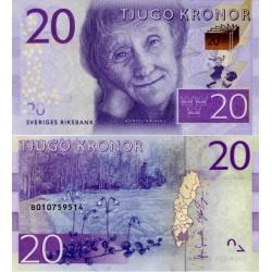 اسکناس 20 کرون - سوئد 2015 سفارشی