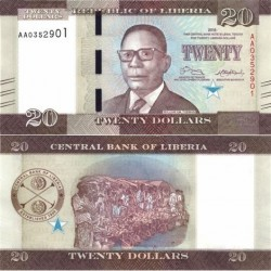 اسکناس 20 دلار - لیبریا 2016