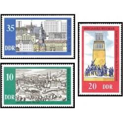 3 عدد تمبر هزار سالگی شهر وایمار - جمهوری دموکراتیک آلمان 1975