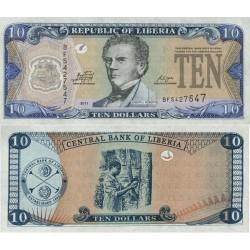 اسکناس 10 دلار - لیبریا 2011