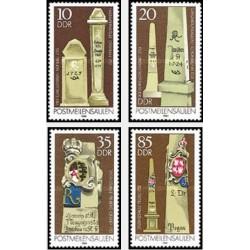 4 عدد تمبر علائم پستی قدیمی - جمهوری دموکراتیک آلمان 1984