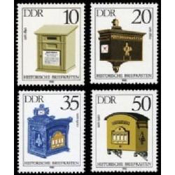 4 عدد تمبر صندوقهای نامه قدیمی  - جمهوری دموکراتیک آلمان 1985
