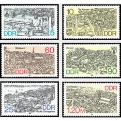 6 عدد تمبر پایتختهای مناطق  - جمهوری دموکراتیک آلمان 1988
