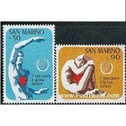 2 عدد تمبر ماه سلامت جهانی - سان مارینو 1972