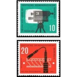 2 عدد تمبر روز تمبر - جمهوری دموکراتیک آلمان 1961