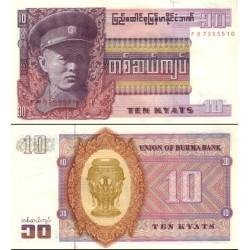 اسکناس 10 کیات - میانمار - برمه 1973