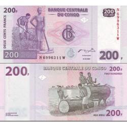 اسکناس 200 فرانک - کنگو 2007