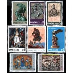 8 عدد تمبر تمدن - یونان 1968