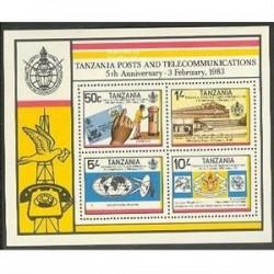 سونیرشیت سالگرد پست و ارتباطات - تانزانیا 1983