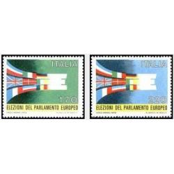 2 عدد تمبر اولین انتخابات مستقیم پارلمان اروپا - ایتالیا 1979