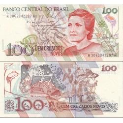 اسکناس 100 کروزرو - برزیل 1989