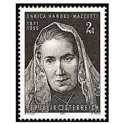 1 عدد تمبر صدمین سالگرد تولد انریکا هندل مازتی - شاعر - اتریش 1971