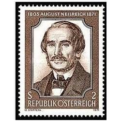 1 عدد تمبر صدمین سالگرد مرگ دکتر آگوست نیلریچ - وکیل و گیاه شناس  - اتریش 1971