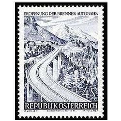 1 عدد تمبر بزرگراه برنر - اتریش 1971