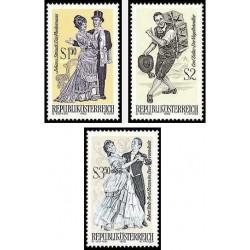 3 عدد تمبر اپراهای کوچک مشهور - اتریش 1970