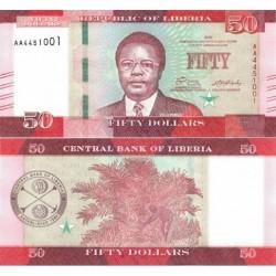 اسکناس 50 دلار - لیبریا 2016